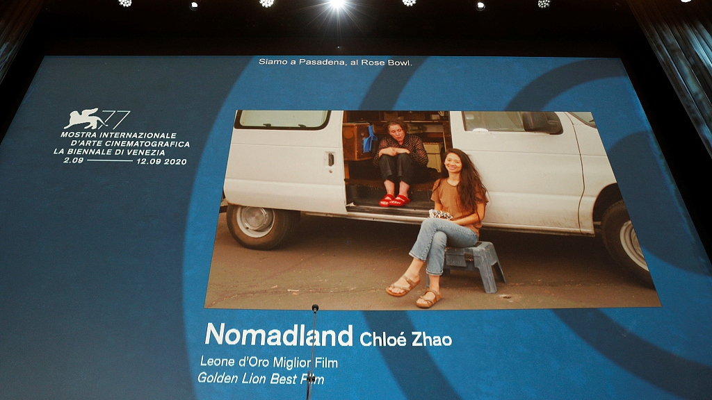 Chloe Zhao takes home top prize at Venice Film Festival with 'Nomadland'
