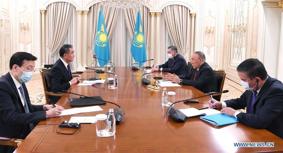 Kazakhstan's first president meets with Chinese state councilor on bilateral ties