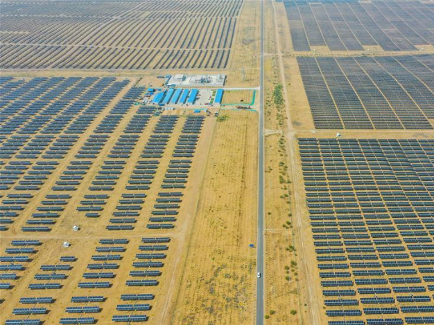 Dalad Photovoltaic Power Base in N China's Kubuqi Desert