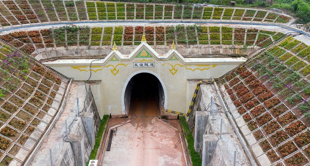 Cross-border rail tunnel links China with Laos