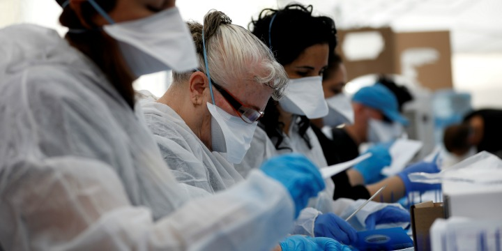 Israel's total COVID-19 cases rise to 164,402