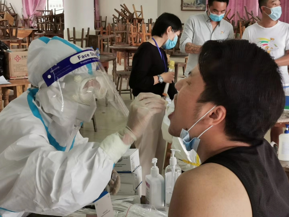 On Myanmar border, virus tests proceed apace
