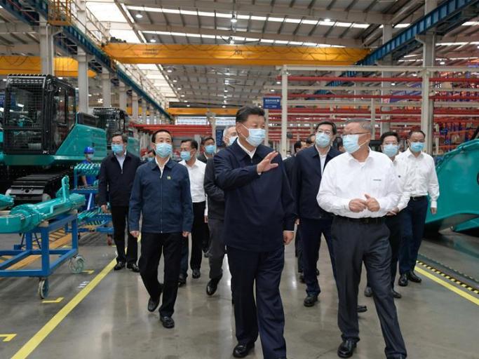 Xi stresses blazing new path of high-quality development