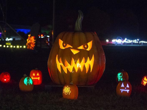 2020 Pumpkins After Dark drive-thru event held in Milton, Canada