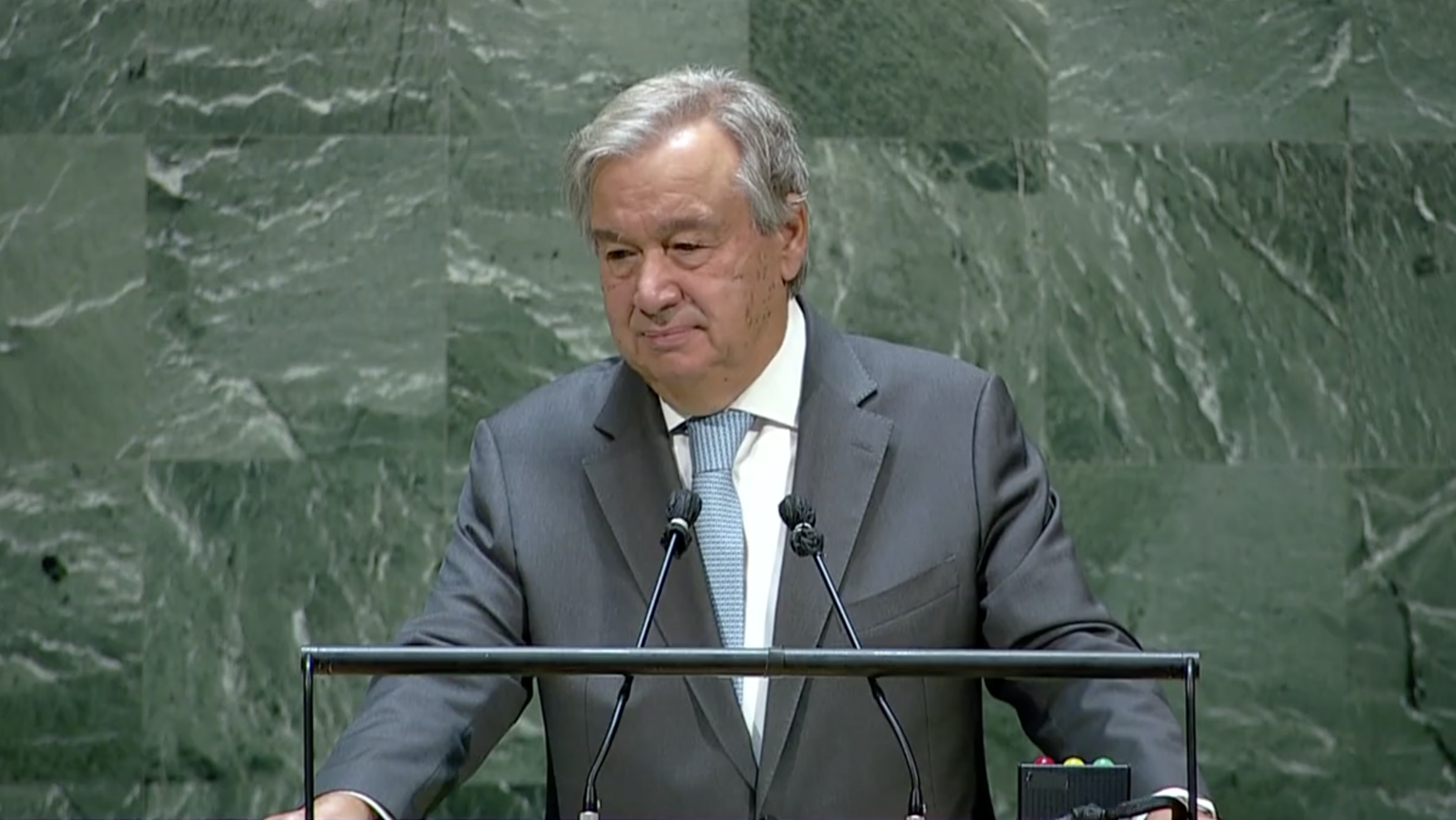 UN chief calls for world governance and multilateralism against crisis