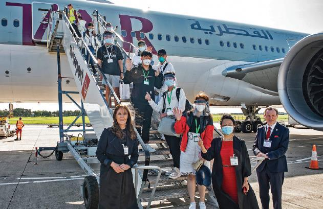 Charter flight brings students to UK