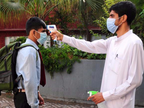 Middle schools resume classes under strict COVID-19 prevention measures in Pakistan