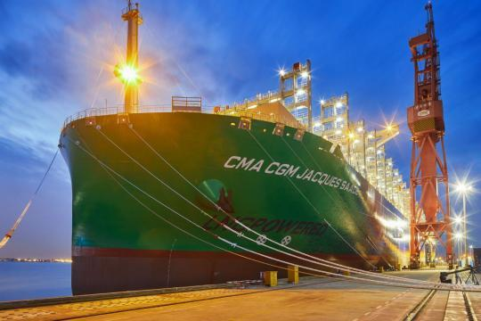 LNG-powered container vessel delivered