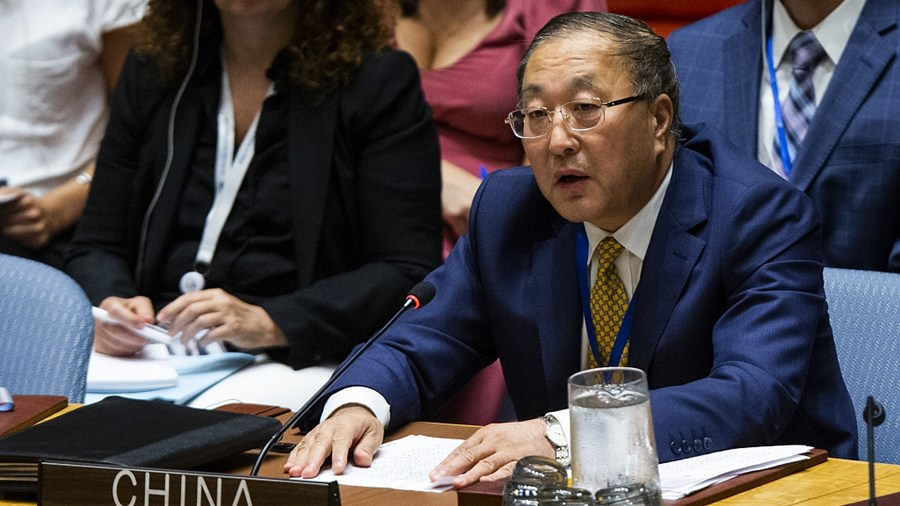 Chinese envoy fights back at US accusations in Security Council
