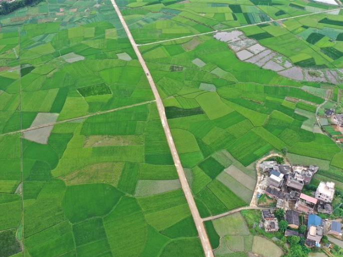 Rural landscape of Pingle County in south China's Guangxi