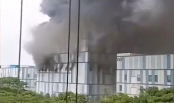 Construction site of Huawei's laboratory in Dongguan catches fire