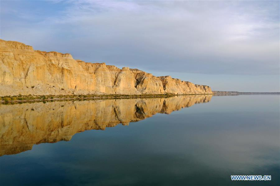 View of Ulunggur Lake in Xinjiang