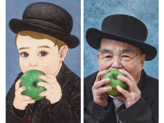 Seniors recreating famous paintings took Chinese social media by storm