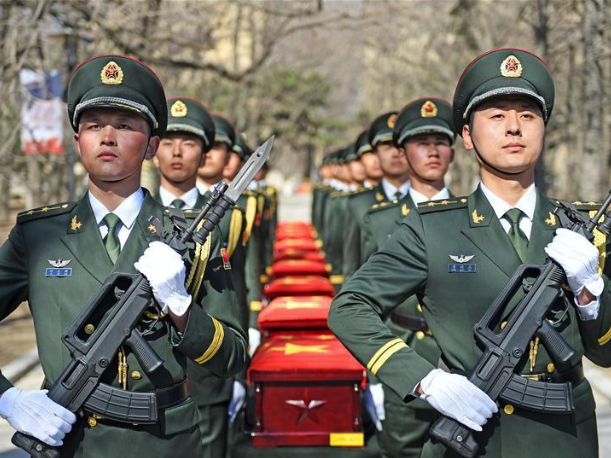 117 remains of Chinese soldiers killed in Korean War casketed in the ROK