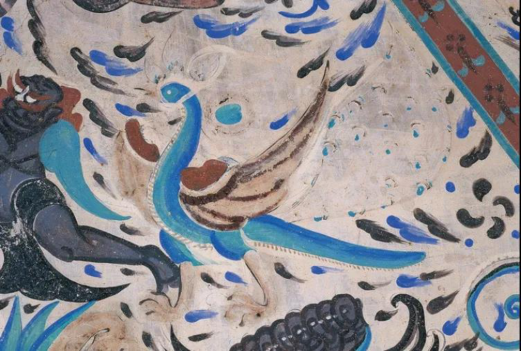 Four auspicious animals in Dunhuang murals in China