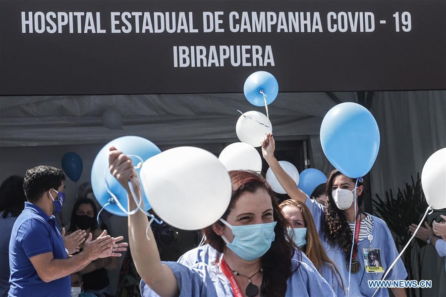 Temporary hospital at gymnasium in Sao Paulo to be officially closed