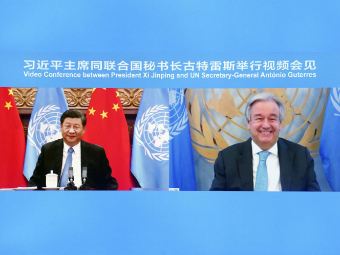 Videoconference between Xi and UN chief sends three major signals to the world