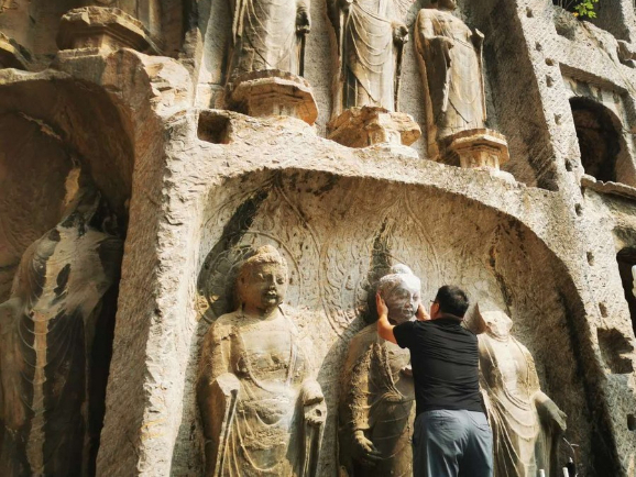 3D-printed head helps restore Buddha statue at world cultural heritage site