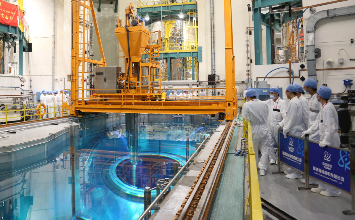 Fuel assembly loading progressing at 1st Hualong One reactor
