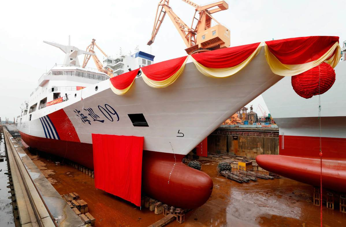 China's largest marine patrol vessel launched