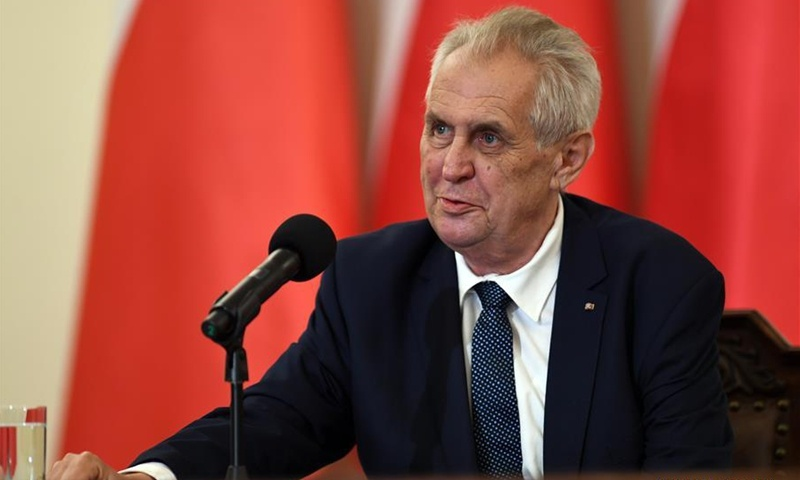 Czech president reiterates country's one-China policy