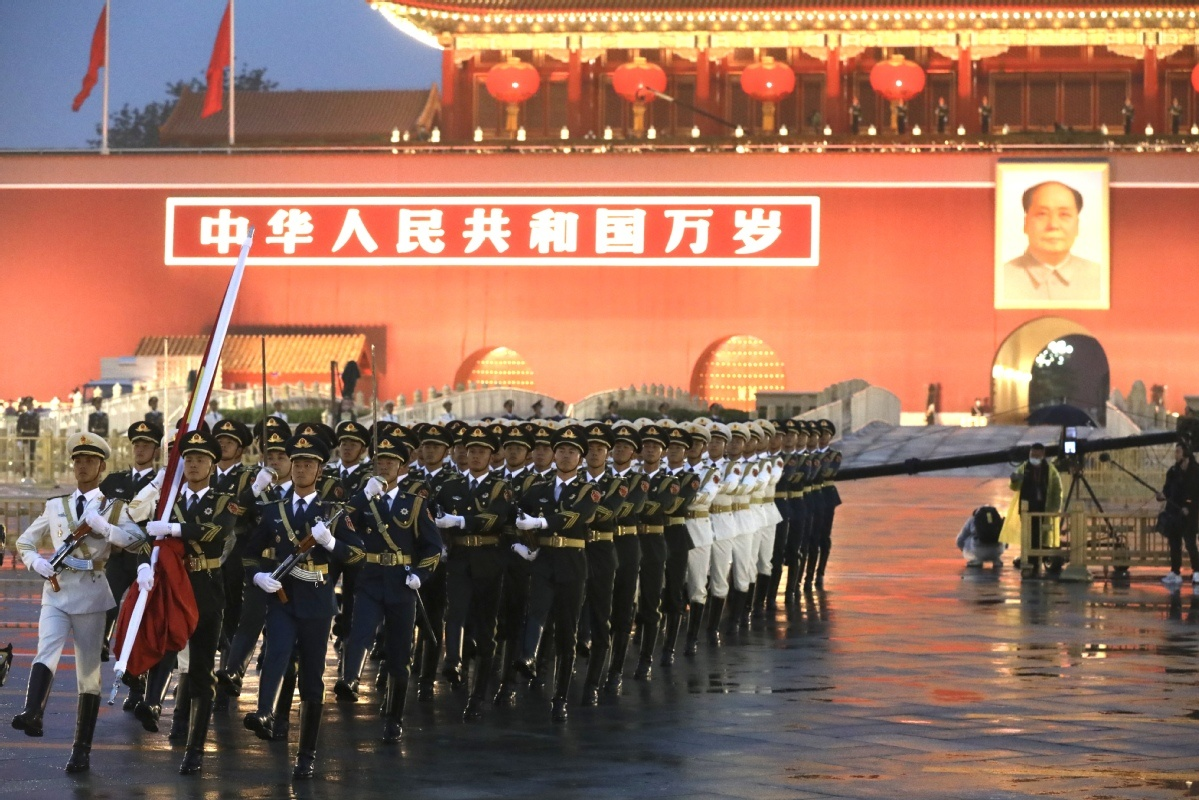 Flag-raising ceremony at Tian'anmen Square marks National Day