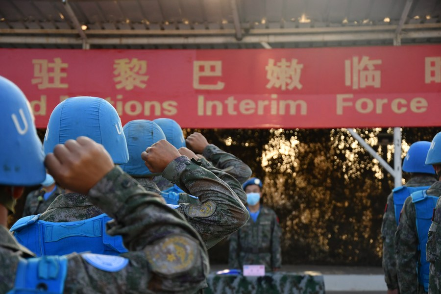 Chinese 'blue helmets' in Lebanon celebrate National Day with commitment to peacekeeping mission