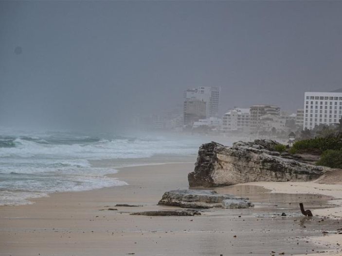 Tropical Storm Gamma hits coast of Mexico's Yucatan Peninsula