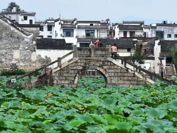 Antumn scenery of Chengkan, an ancient village in E China's Anhui