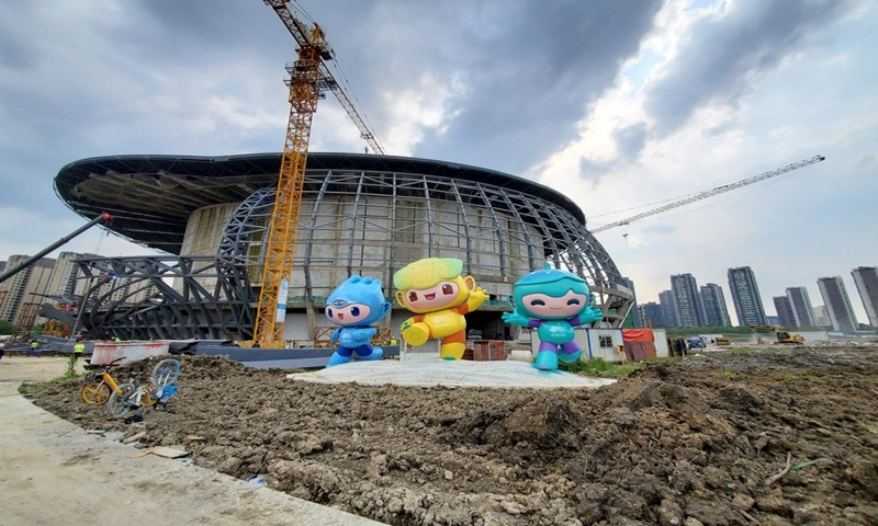 Hangzhou 2022 venue construction continues during National Day holiday