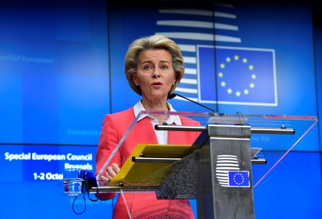 EU commission president says she's self-isolating
