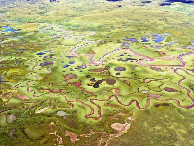 Aerial view of Tibet Autonomous Region