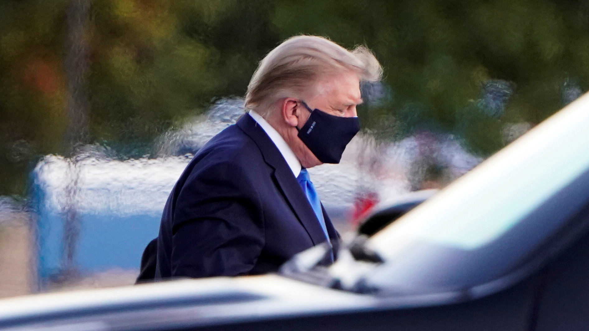 Trump leaves hospital for 'surprise visit' as COVID-19 treatment continues