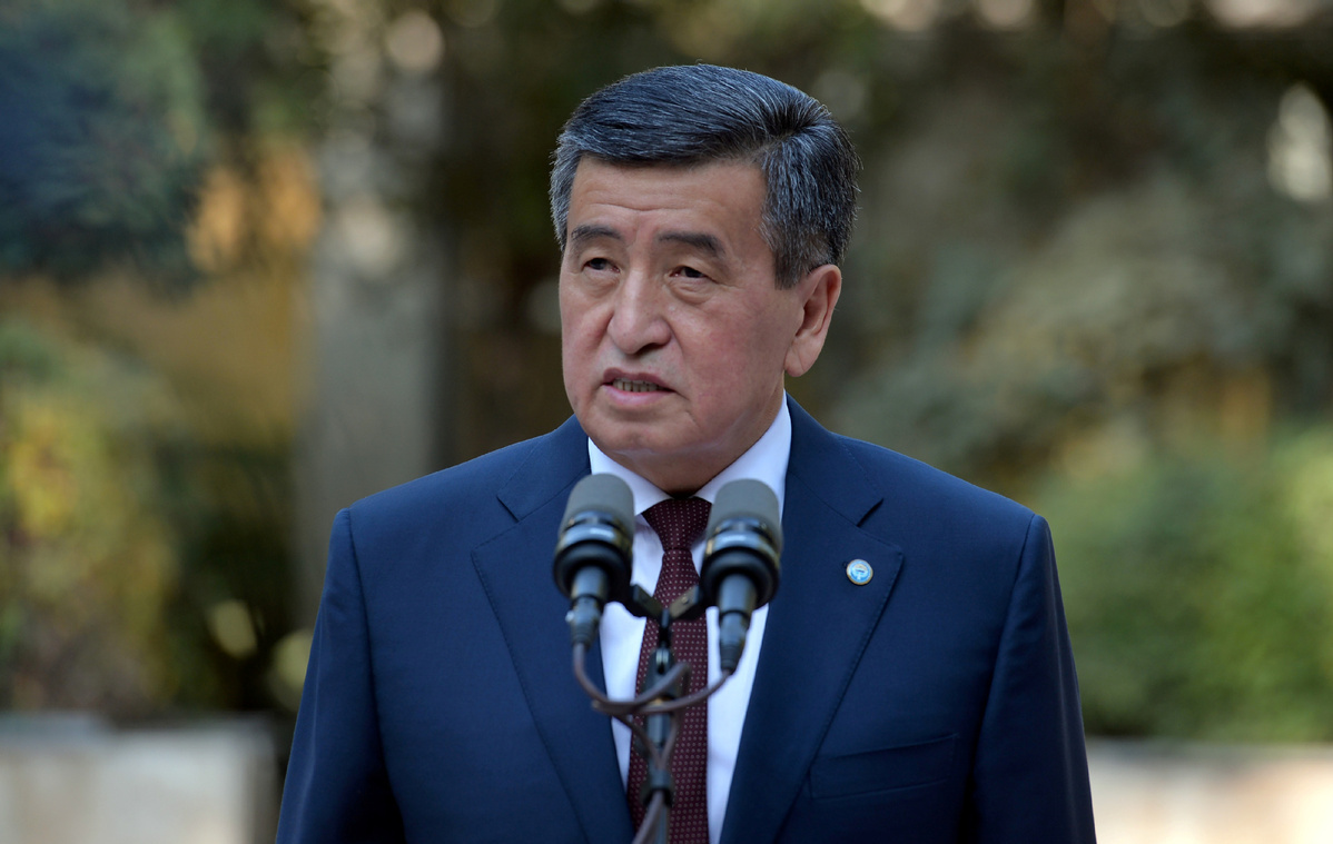 Kyrgyz president calls for calm, social stability amid protests