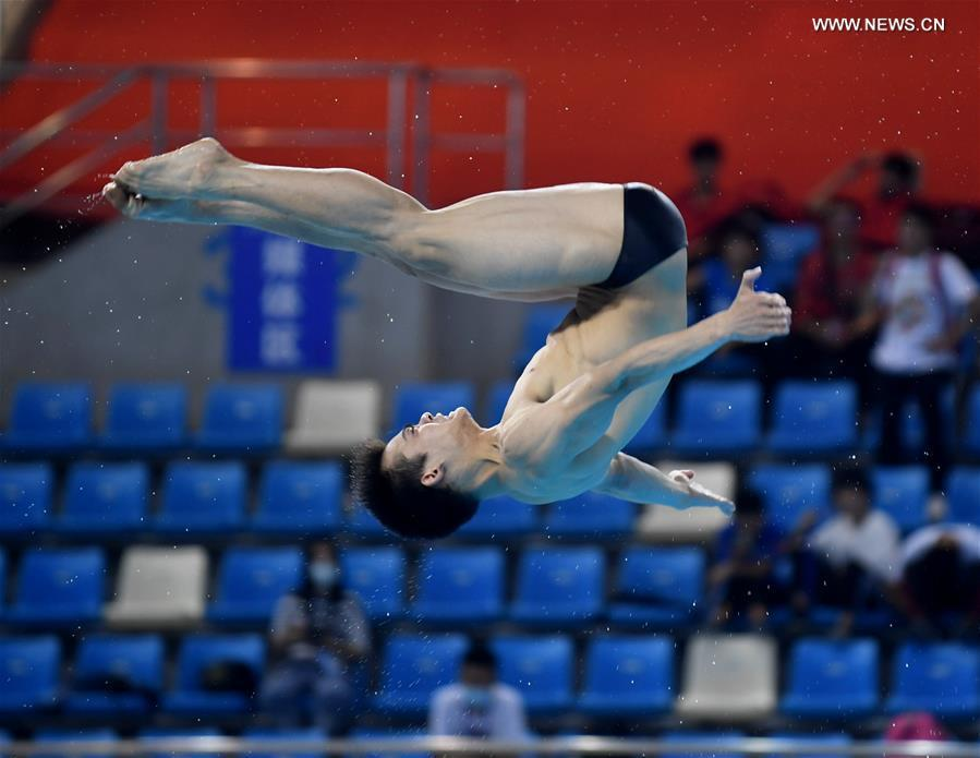 Highlights of men's 1m springboard final at 2020 Chinese National Diving Championships