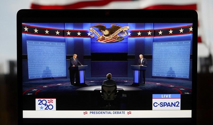 Trump says looking forward to next debate with Biden