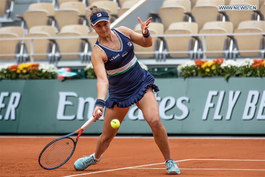 Highlights of women's quarterfinal match at French Open tennis tournament 2020