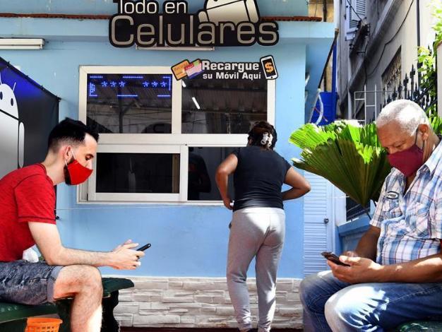 People wear face masks in Havana, Cuba
