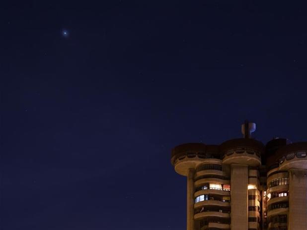 Mars seen in Madrid, Spain