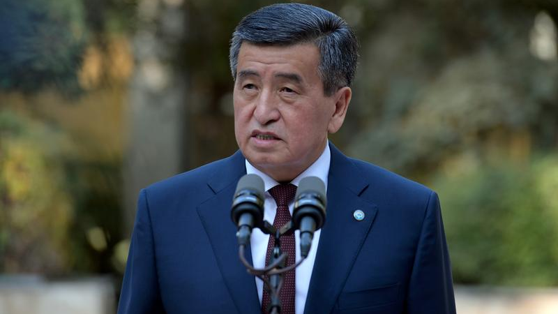 Kyrgyz president says ready to step down when order is restored