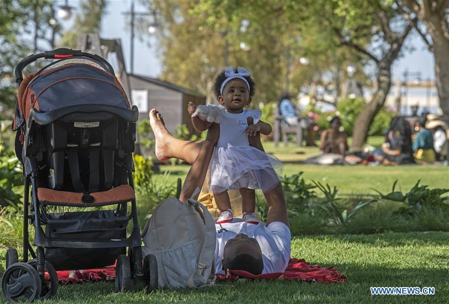 People have fun at park in Johannesburg, South Africa