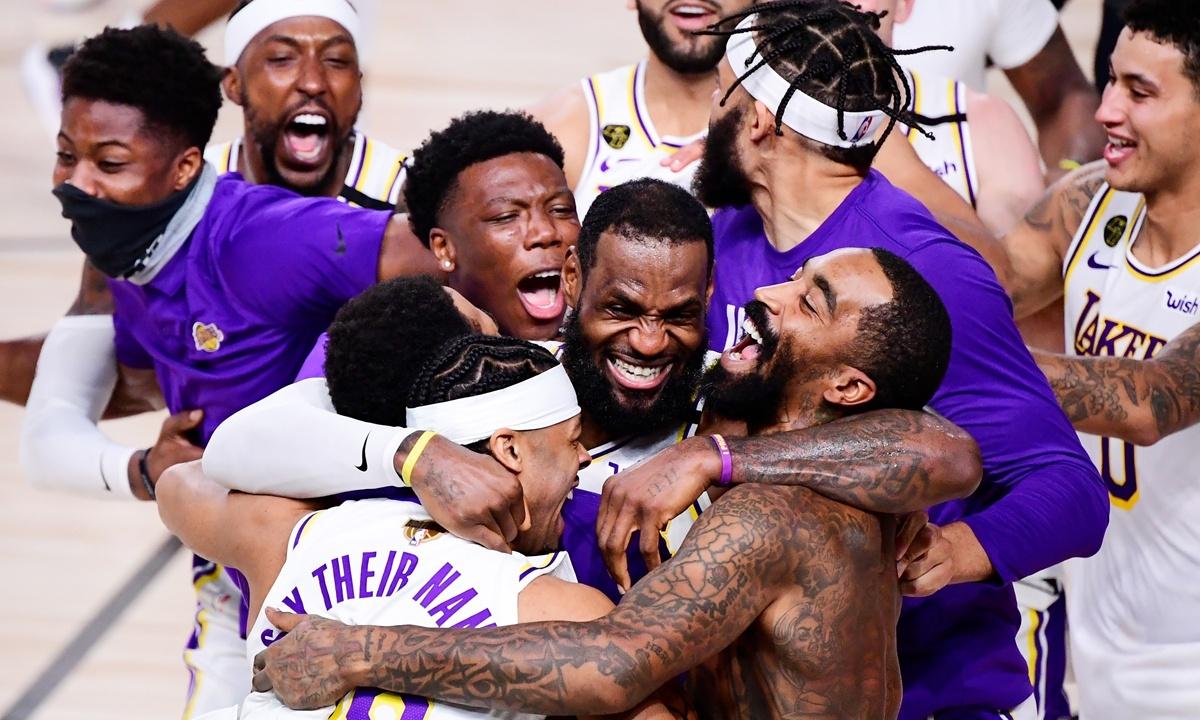 Chinese fans congratulate Lakers on winning championship