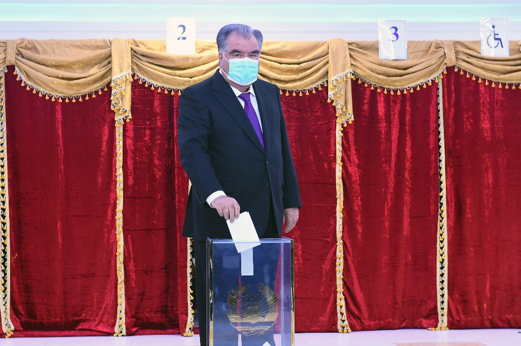 Primary results show Emomali Rahmon reelected as Tajik president