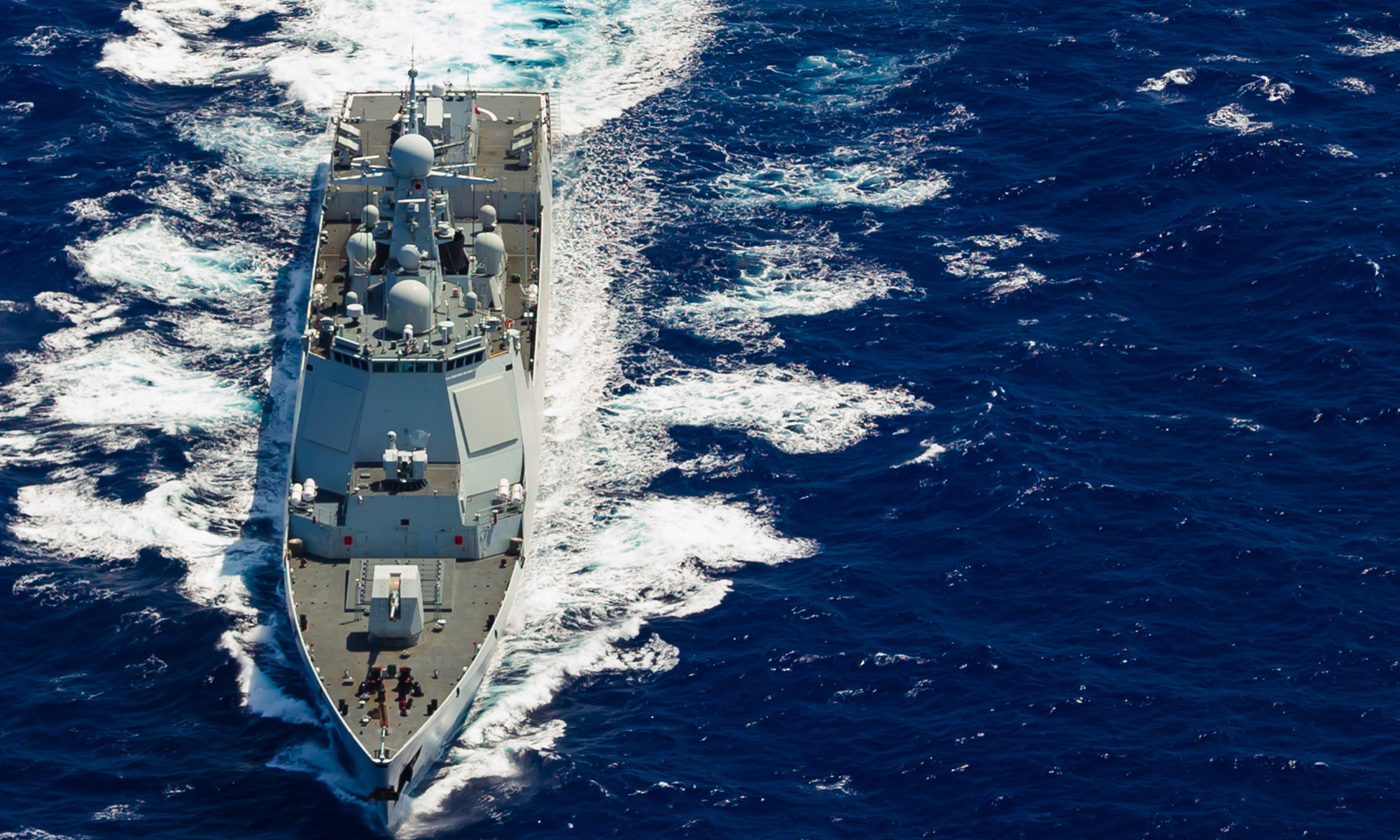 Two new guided missile destroyers enter Chinese naval service