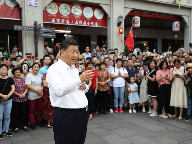 Xi stresses protection, development of ancient city
