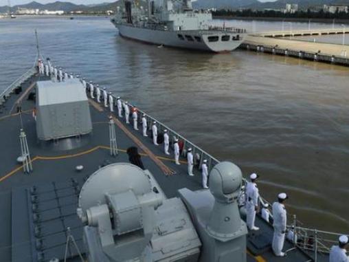 Chinese navy fleet returns from escort mission