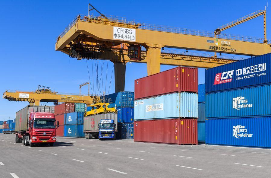 Manzhouli Port exceeds 2,000 outbound, inbound China-Europe freight trains in first three quarters