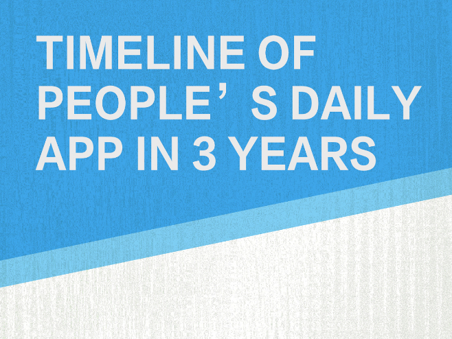 Timeline of People's Daily app in 3 years