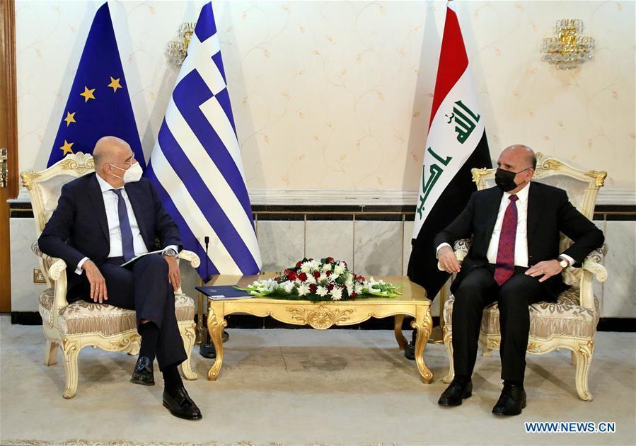Greek FM in Baghdad to boost bilateral ties