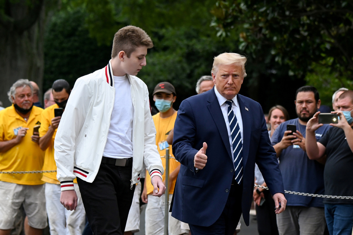 Trump's youngest son Barron had COVID-19, now tests negative